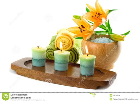 bathroom candles and accessories candles and bath accessories royalty free stock photos image 18730408