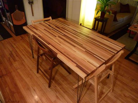 Ikea Kitchen Floor Plans by Multi Quot Scrap Quot Wood Butcher Block Dining Table By