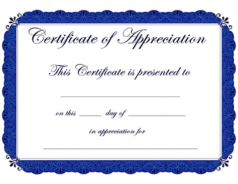 template for certificate printable awards templates co workers