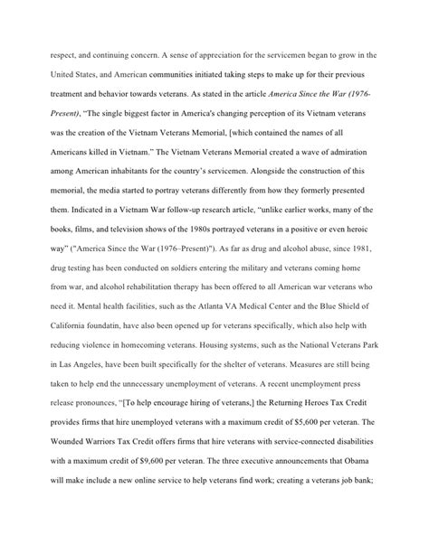 War Veteran Essays by Research Essay