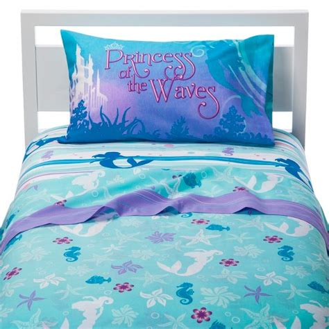 mermaid bedding twin disney little mermaid sheet set target