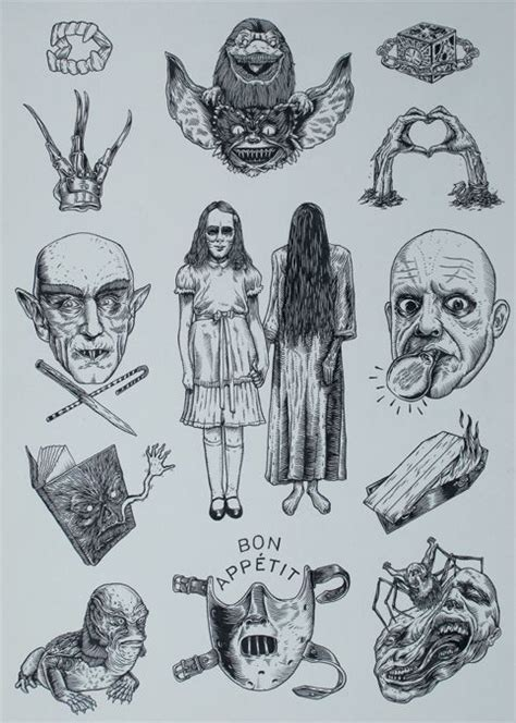 small horror tattoos i want the teeth traditionaltattoos