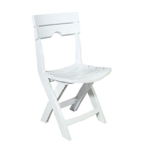 Adams Manufacturing Quik Fold White Patio Chair 8575 48