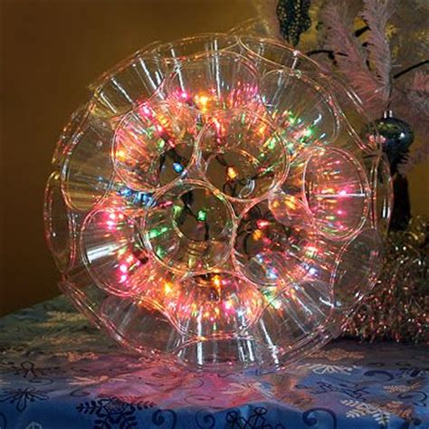 make a sparkle ball with christmas lights and clear