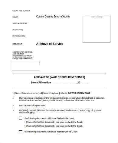 Affidavit Of Service Form Sles 8 Free Documents In Word Pdf Affidavit Of Non Service Template