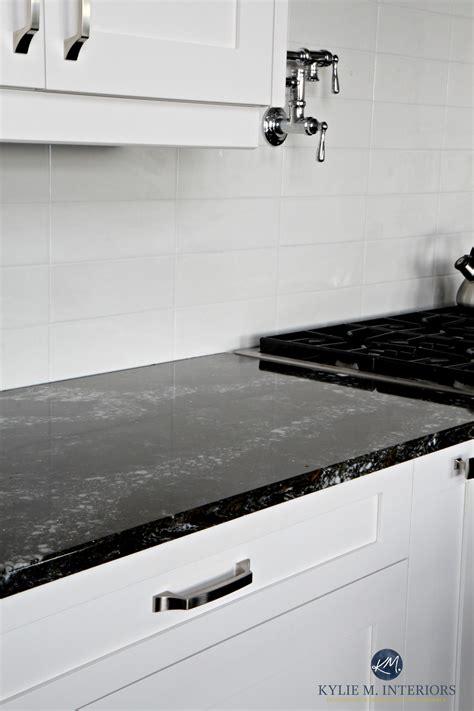 Black Quartz Kitchen Countertops by Cambria Ellesmere Black Quartz Countertop White Kitchen