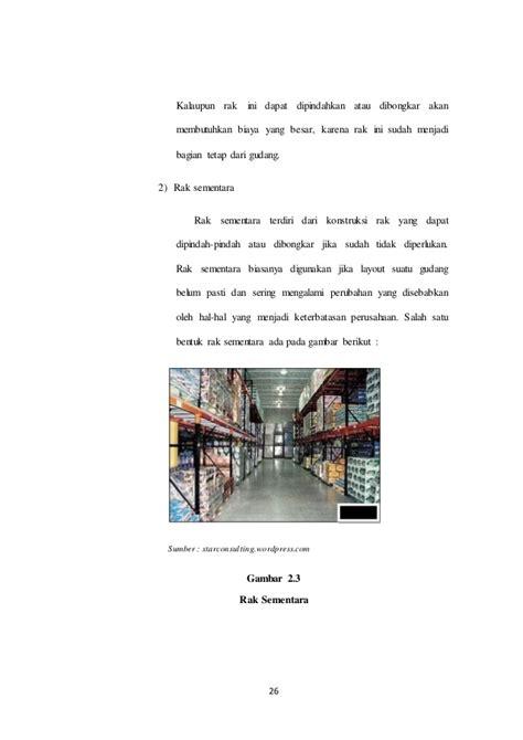 tujuan layout gudang pengendalian persediaan
