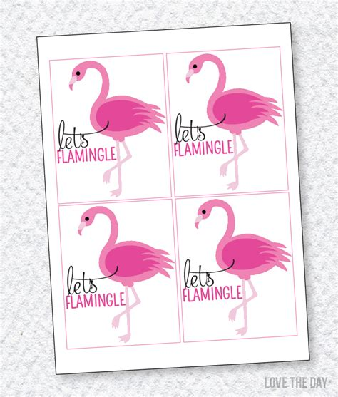 printable birthday favors free printable flamingo party favors by flamingo party