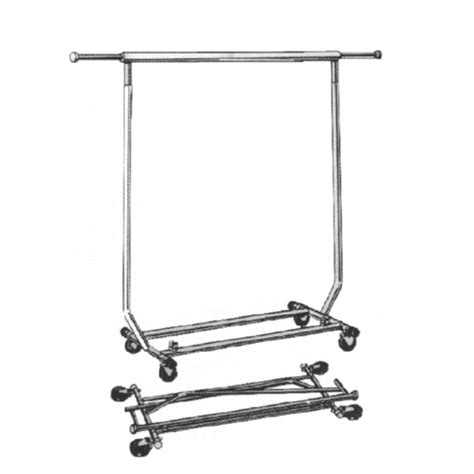 Rolling Rack by Collapsible Chrome Rolling Rack Collapsible Rolling
