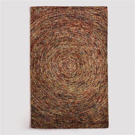 cost plus outdoor rugs multicolor swirl hooked wool rug world market