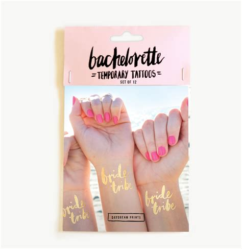 bachelorette party tattoos flash tribe set of 12 emporium