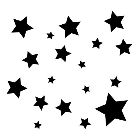 Wall Art Designs Bedroom Simple Stars Multi Sized Vinyl Wall Art Decal For Homes