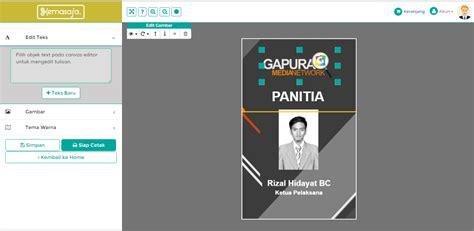 cara membuat id card lewat internet cara membuat id card online di kemasaja com cara desain