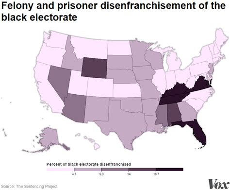 What Percentage Of Americans A Criminal Record 19 Maps And Charts That Explain Voting Rights In America Vox