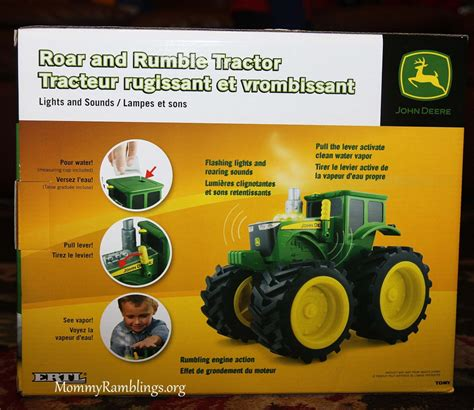 Tractor Giveaway - green farm toys john deere roar and rumble tractor review