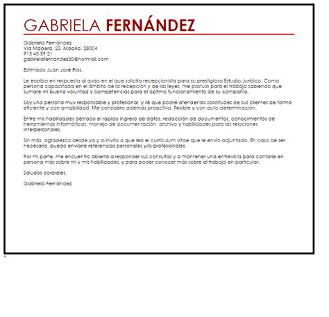 Resume Sample For Receptionist by Modelo De Curriculum Vitae Estudio Juridico Modelo De
