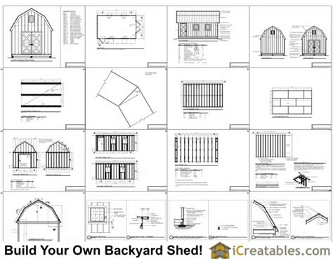 Free Shed Blueprints 12x20 by Wood Shed