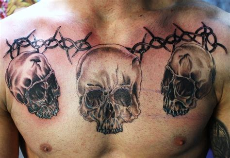 skull chest tattoos for men skull chest best home decorating ideas
