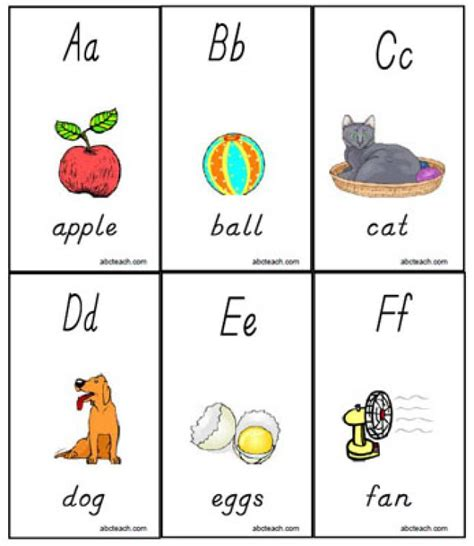 printable toddler learning flash cards 5 best images of printable alphabet flashcards for