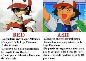mas all 225 del anime diferencia entre ash y rojo red