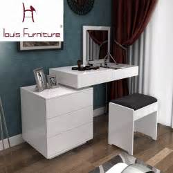 Desk For Small Apartment Fashion White Paint Small Apartment Telescopic Minimalist Modern Computer Desk Dresser Bedroom