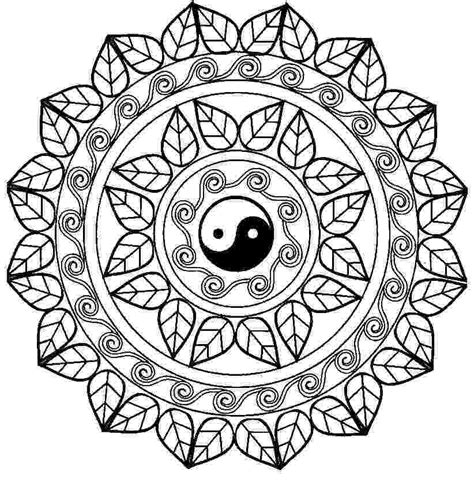 chinese mandala coloring pages mandala con el free printable online yin yang coloring