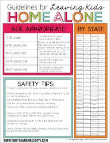 how do you to be to leave home what age can stay home alone guidelines printable
