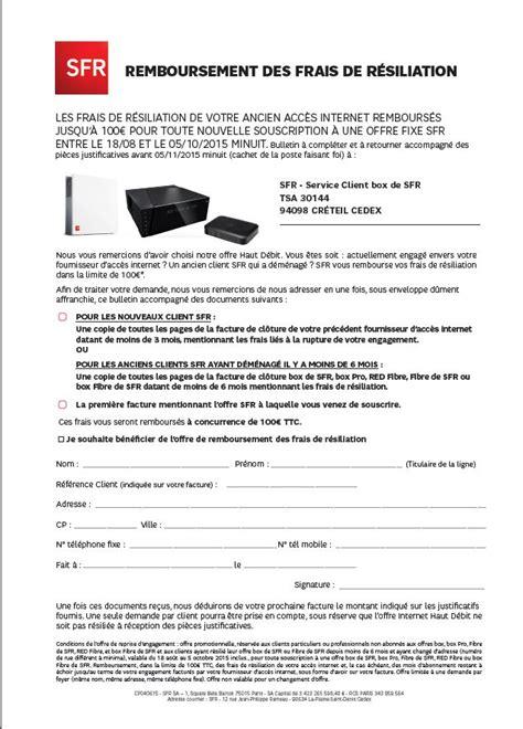 Lettre De R Siliation Free Adsl r 233 solu remboursement des frais de r 233 siliation ancien