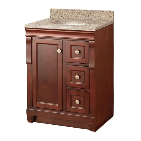 Foremost Naples Vanity White by Foremost Naples 25 In W X 22 In D Vanity In Tobacco With