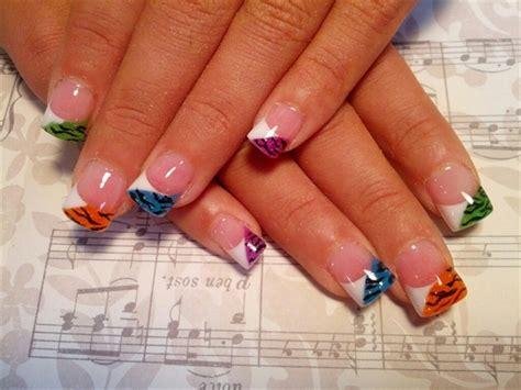 multi colored nails multicolored nail colorful nail designs