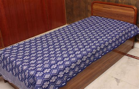 single bed coverlets blue single bed bedspread from coimbatore