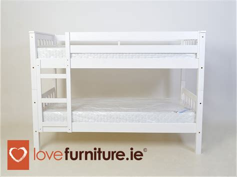 bunk bed clearance barcelona bunk bed 3ft whitewash clearance