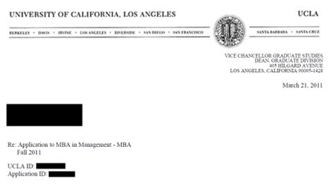 Cost Of Part Time Mba Ucla by Ucla Mba Admits Never Received Links To Get Sir Or Slr