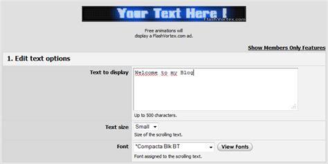 membuat tulisan berjalan online cara membuat tulisan berjalan maniac blogger