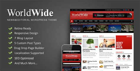 themes wordpress premium nulled world wide themeforest responsive magazine wp theme