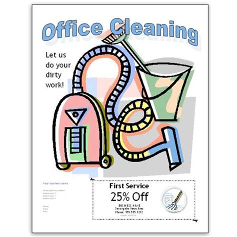 cleaning brochure templates free cleaning flyers clipart