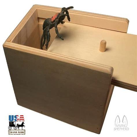 spider surprise box practical joke wood toys