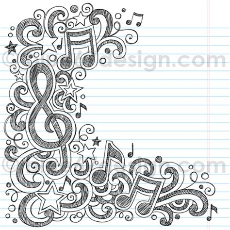 musical doodle free vector notes sketchy doodle vector illustration by