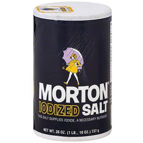 Morton Iodized Salt 737gr morton iodized salt 26 oz pack of 24 walmart