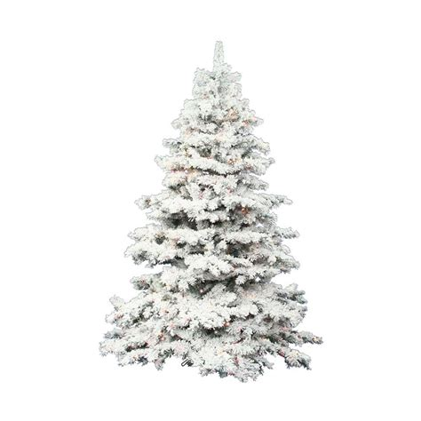 white 7 ft pre lit christmas tree clearance shop vickerman 7 5 ft pre lit alaskan pine flocked artificial tree with white clear