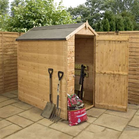 Windowless Shed by 6 X 4 Waltons Windowless Overlap Apex Wooden Shed