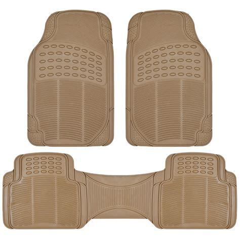 van suv rubber floor mats 3 row w cargo mat all weather trimmable beige ebay