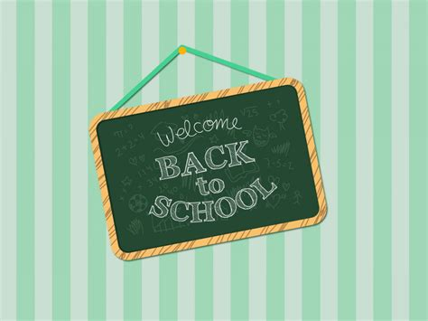 Welcome Back To School Backgrounds Educational Green Templates Free Ppt Backgrounds And Back To School Powerpoint Template