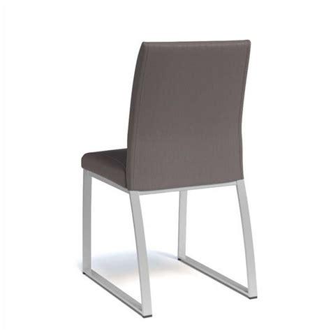 a chaise and four chaise rembourr 233 e en synth 233 tique et m 233 tal elite 4