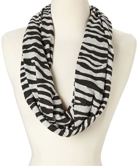 868 zebra print infinity scarf