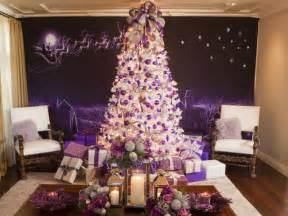 purple and white christmas tree