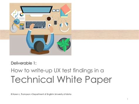 how to write a technical white paper technical white papers