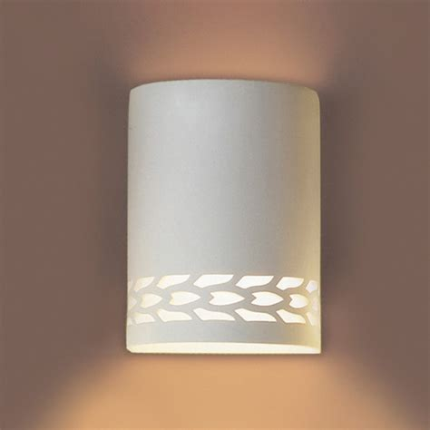 Ceramic Wall Sconce 7 Quot Contemporary Ceramic Sconce W Lower Maize Border Contemporary Ceramic Interior Wall