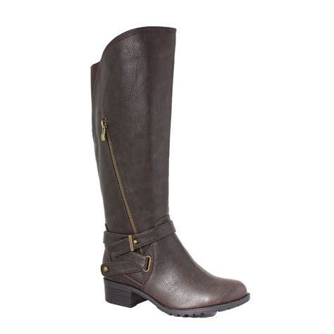 boots wide width california wide calf boot chocolate intaglia co