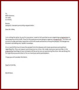 Hiv Cover Letter by Doc 732894 Sponsor Letter Templates Sponsorship Cover Letter Template 84 Related
